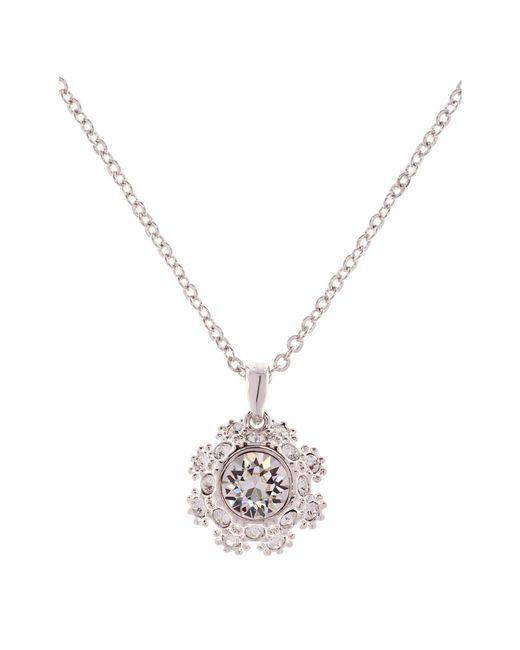 Ted Baker - Metallic Sirou Swarovski Crystal Daisy Lace Pendant Necklace - Lyst