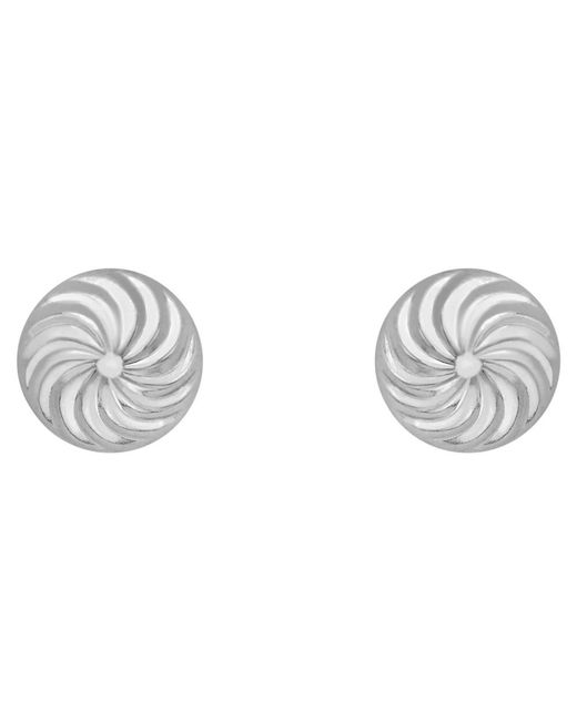Ib&b | Metallic 9ct Gold Swirl Detail Dome Stud Earrings | Lyst