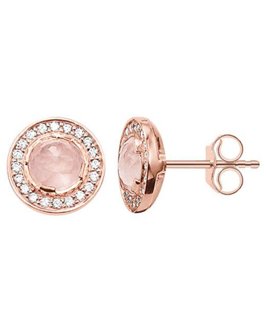 Thomas Sabo | Pink Light Of Luna Round Stud Earrings | Lyst