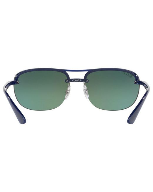 7cbbc049db6 ... Ray-Ban - Blue Rb4275ch Chromance Polarised Square Sunglasses for Men -  Lyst ...