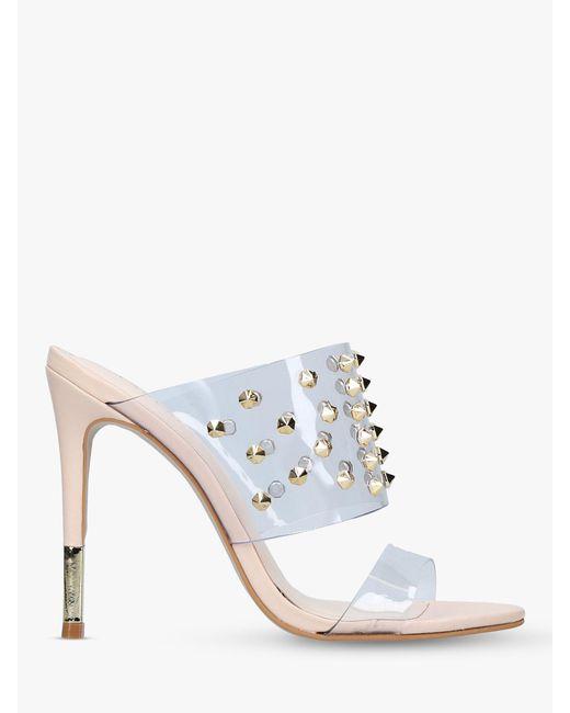 3a85446d5 Carvela Kurt Geiger - Natural Ghost Studded Stiletto Heel Sandals - Lyst ...