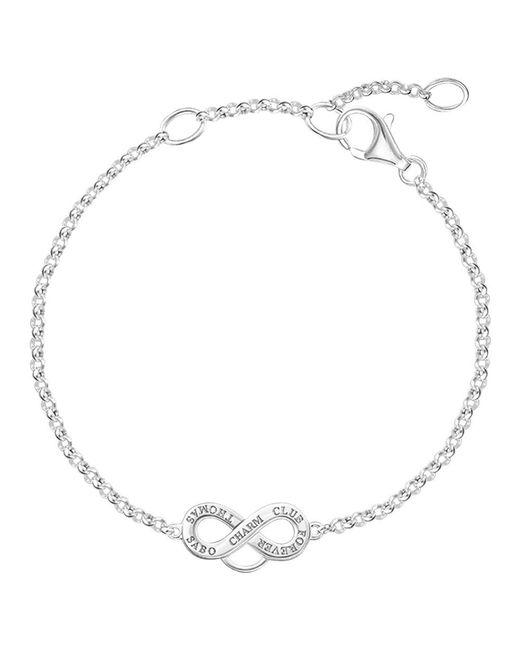Thomas Sabo - White Charm Club Infinity Symbol Bracelet - Lyst