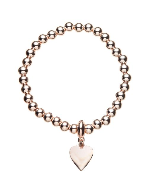 John Lewis - Metallic Ball Bead Heart Charm Stretch Bracelet - Lyst