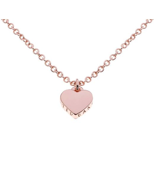 Ted Baker | Pink Hara Tiny Heart Pendant Necklace | Lyst