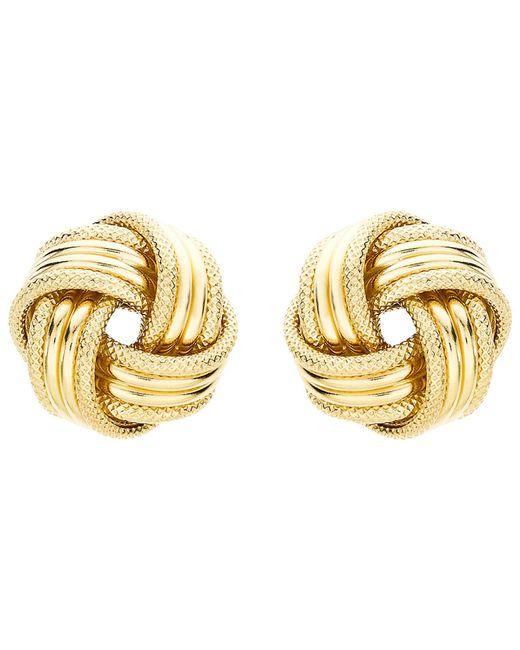 Ib&b | Metallic 9ct Gold Knot Earrings | Lyst