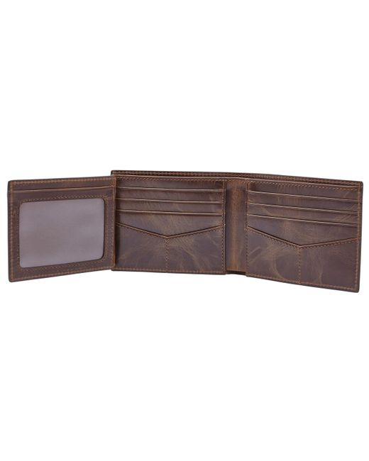 John Lewis - Brown Fossil Derrick Flip Id Bifold for Men - Lyst