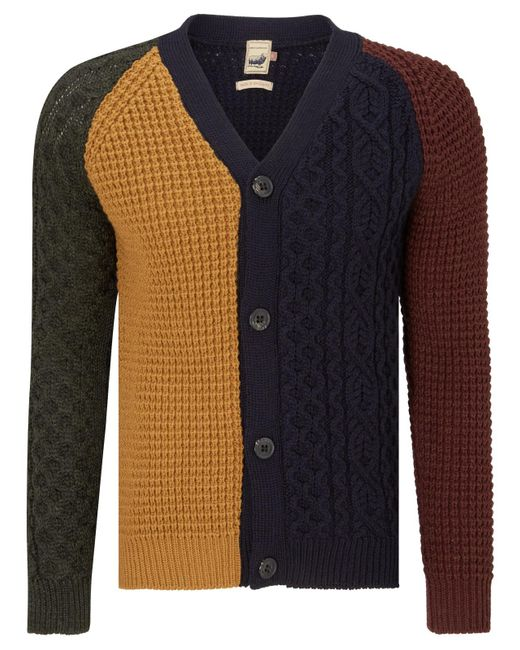 John Lewis | Blue Made In England Patchwork Cardigan for Men | Lyst