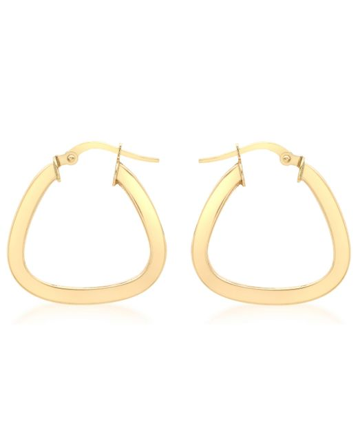 Ib&b - Metallic 9ct Yellow Gold Triangle Shaped Creole Earrings - Lyst