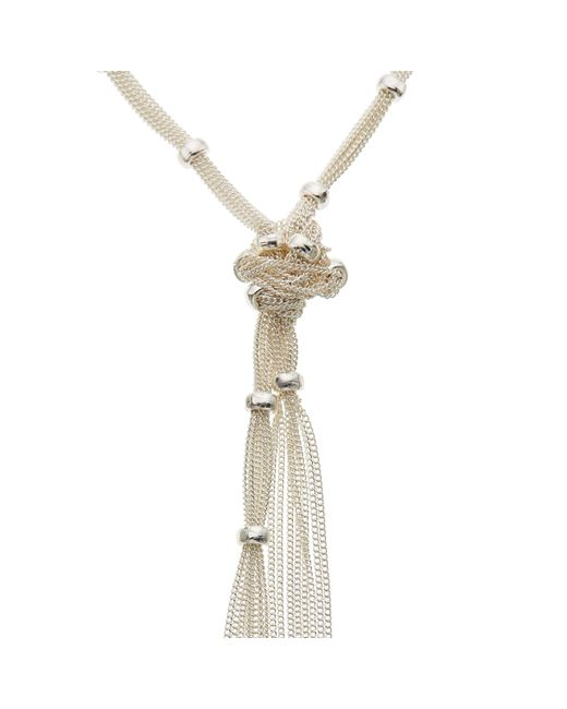 John Lewis - Metallic Ring And Knot Long Necklace - Lyst