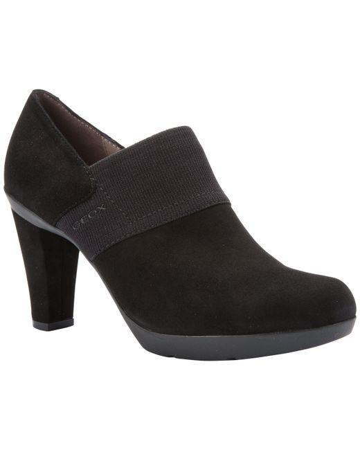 Geox - Black Women's Inspiration Block Heeled Shoe Boots - Lyst