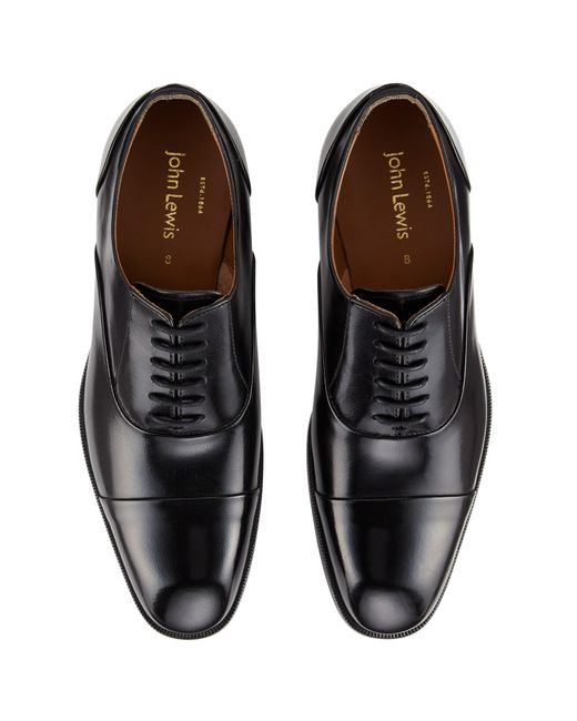John Lewis Black Goodwin Oxford Leather Lace Up Shoes For Men Lyst