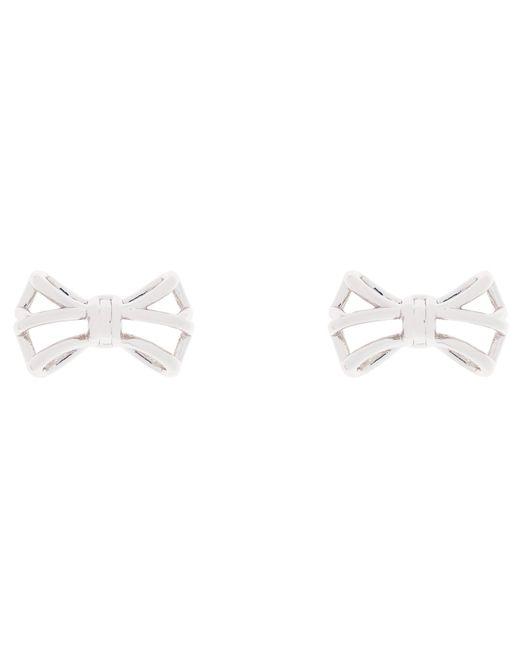 Ted Baker | Metallic Gleda Micro Geometric Bow Stud Earrings | Lyst
