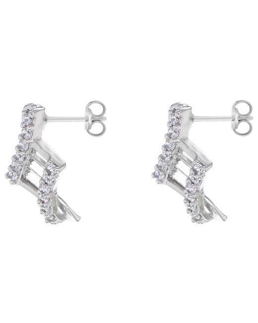 John Lewis - Metallic Ibb 9ct White Gold Cubic Zirconia Stud Earrings - Lyst