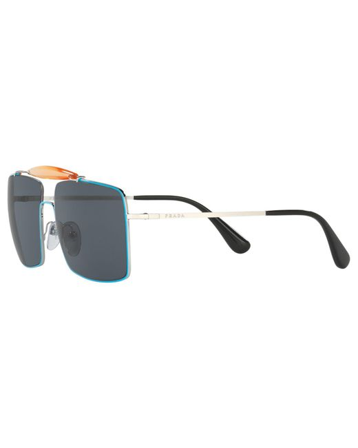 6af6e946870 ... Prada - Multicolor Pr57ss Square Sunglasses for Men - Lyst ...