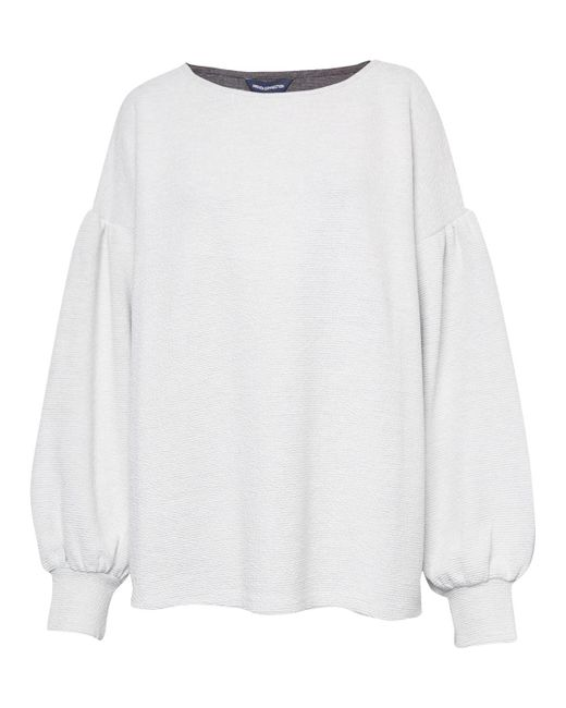 2aceb2b27e1 ... French Connection - White Ellen Textured Jumper - Lyst ...