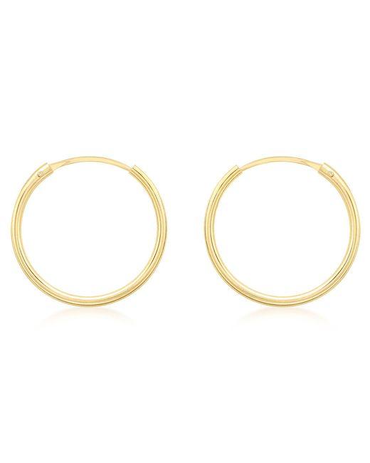 Ib&b - Metallic 9ct Gold Hoop Earrings - Lyst
