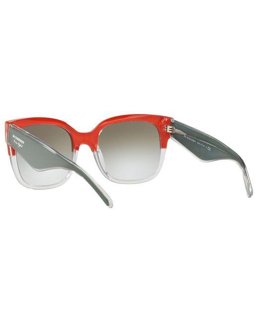 1ed98c39da Burberry Be4271 Women s Square Sunglasses in Gray - Lyst