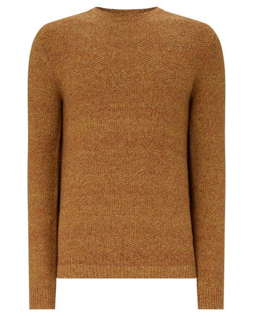 John Lewis | Brown Twisted Yarn Silk Blend Jumper for Men | Lyst