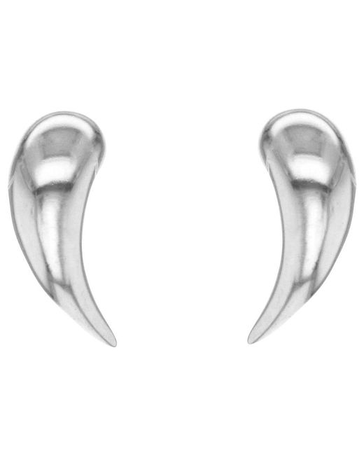 Ib&b - Metallic 9ct White Gold Stud Earrings - Lyst