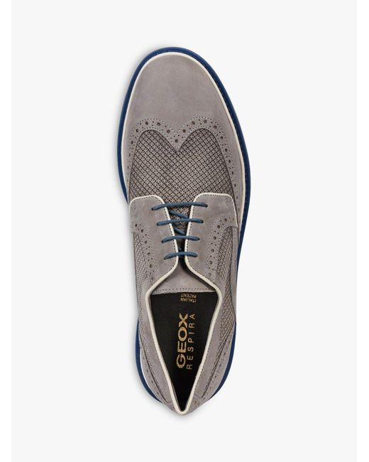 ed19986898 ... Geox - Gray Silmor Suede Derby Shoes for Men - Lyst ...