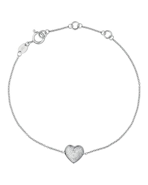 Links of London | Orange Diamond Essentials Sterling Silver And Pave Heart Bracelet | Lyst