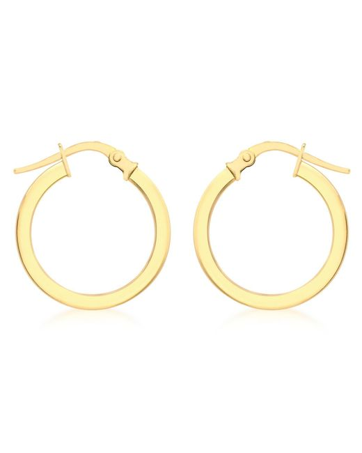 Ib&b | Metallic 9ct Yellow Gold Creole Lever Hoop Earrings | Lyst