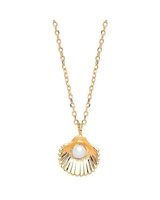 Estella Bartlett - Metallic Shell Freshwater Pearl Pendant Necklace - Lyst