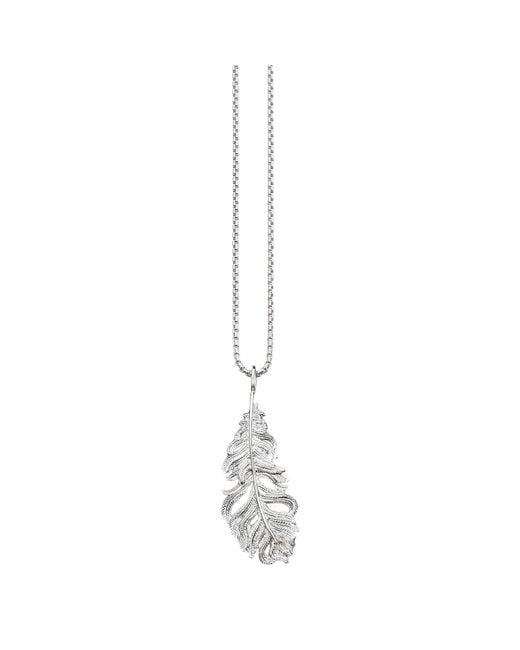Thomas Sabo - Metallic Glam & Soul Feather Pendant Necklace - Lyst
