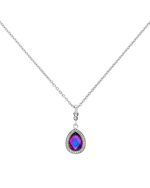 Monet | Metallic Glass Crystal Teardrop Pendant Necklace | Lyst