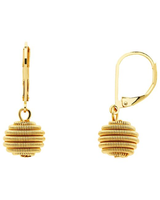 Monet - Metallic Spiral Ball Hook Drop Earrings - Lyst
