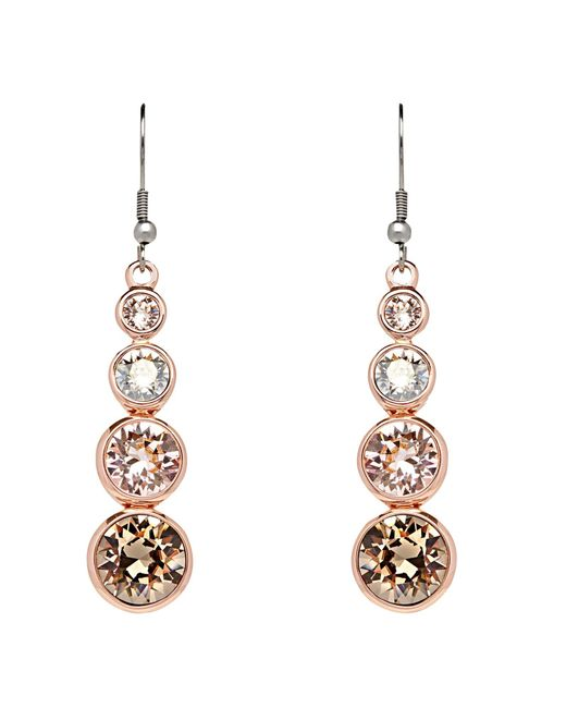 Karen Millen | Metallic Teardrop Swarovski Crystal Drop Earrings | Lyst