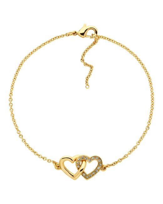 Melissa Odabash   Metallic Swarovski Crystal Double Heart Bracelet   Lyst