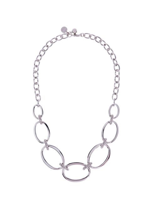 Karen Millen - Metallic Oversize Chain Necklace - Lyst