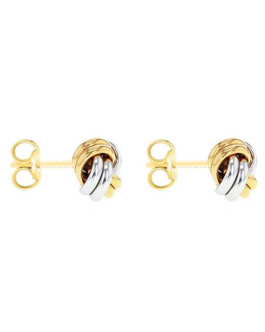 John Lewis - Metallic Ibb 9ct Gold Small Knot Stud Earrings - Lyst
