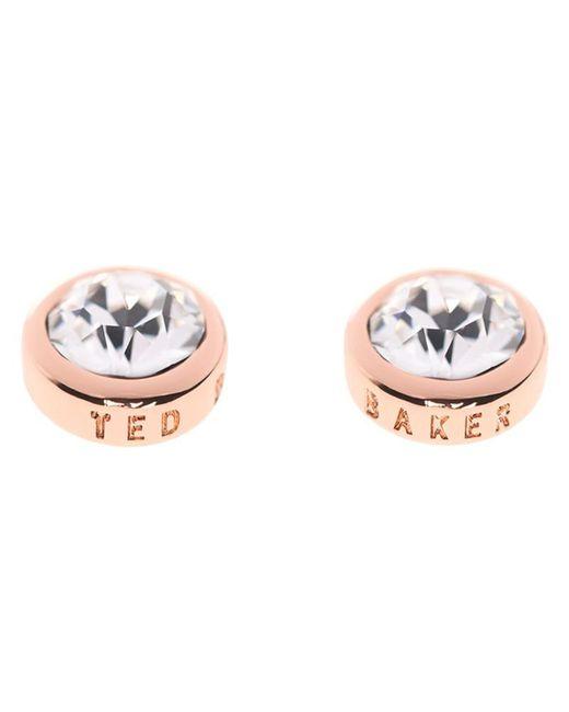 Ted Baker   Pink Sina Crystal Stud Earrings   Lyst