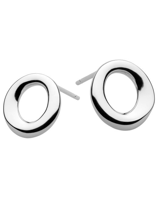 Kit Heath - Metallic Sterling Silver Bevel Cirque Small Stud Earrings - Lyst