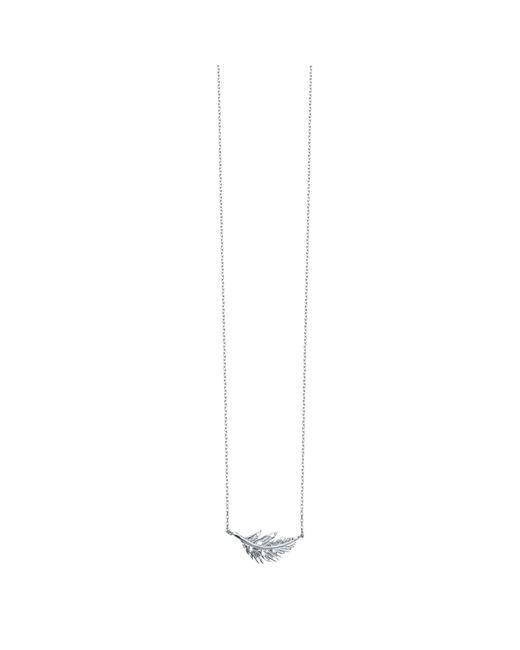 Estella Bartlett   Metallic Feather Pendant Necklace   Lyst
