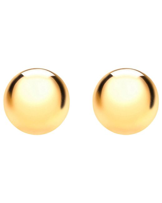 Ib&b | Metallic 9ct Yellow Gold Half Ball Stud Earrings | Lyst