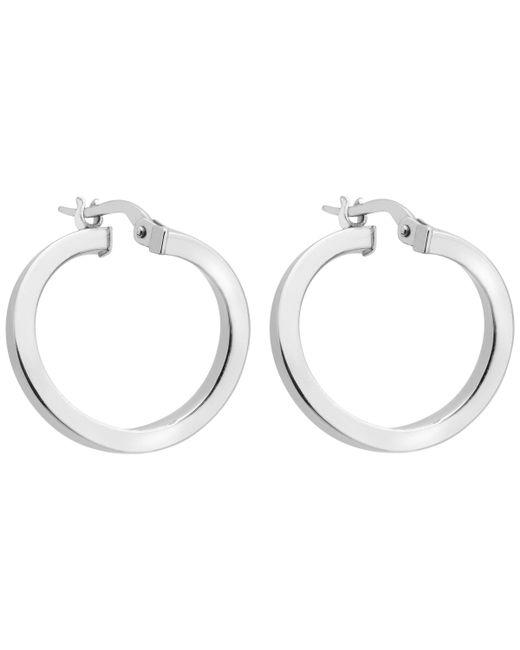 Ib&b - Metallic 9ct White Gold Creole Earrings - Lyst