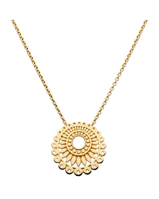 Kit Heath | Metallic Gold Plated Chantilly Necklace | Lyst
