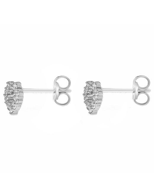 John Lewis - Metallic Ibb 9ct White Gold Small Heart Stud Earrings - Lyst