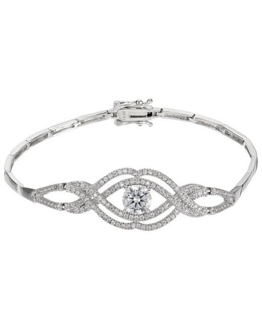 Ivory & Co. | Metallic Heritage Cubic Zirconia Rose Bracelet | Lyst