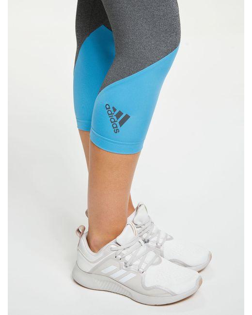 online retailer 96761 b9773 ... Adidas - Black Alphaskin Sport 2.0 Embossed 34 Training Tights - Lyst  ...