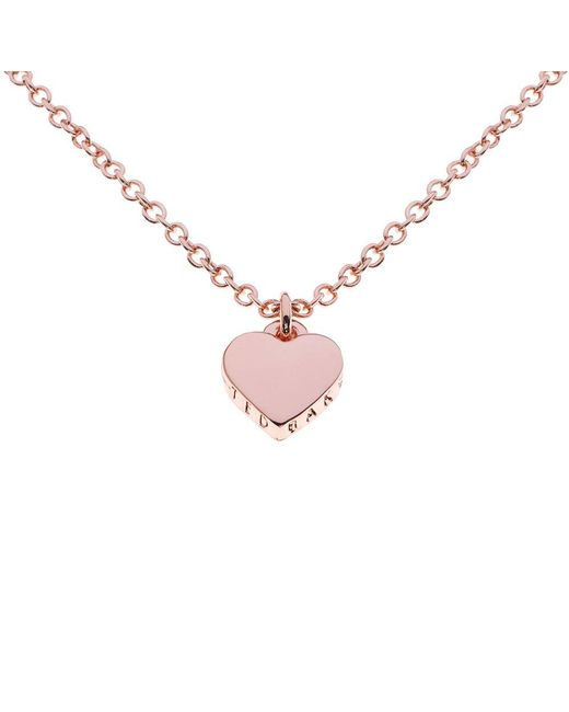 Ted Baker - Pink Hara Tiny Heart Pendant Necklace - Lyst