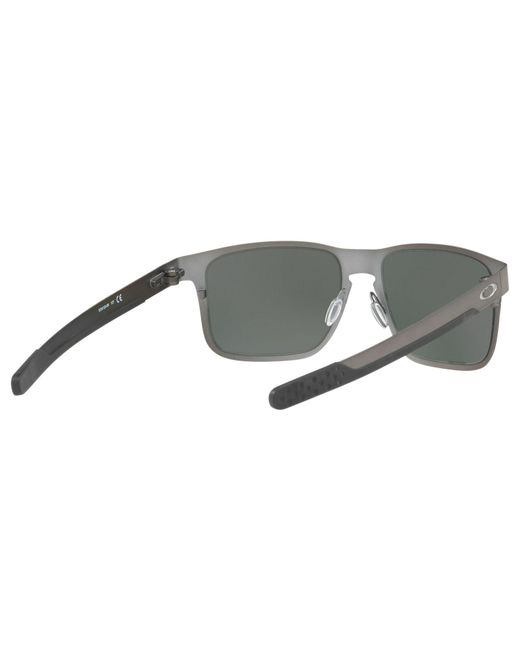 3c383c4b39 ... Oakley - Gray Oo4123 Men s Holbrook Prizm Polarised Metal Square  Sunglasses for Men ...