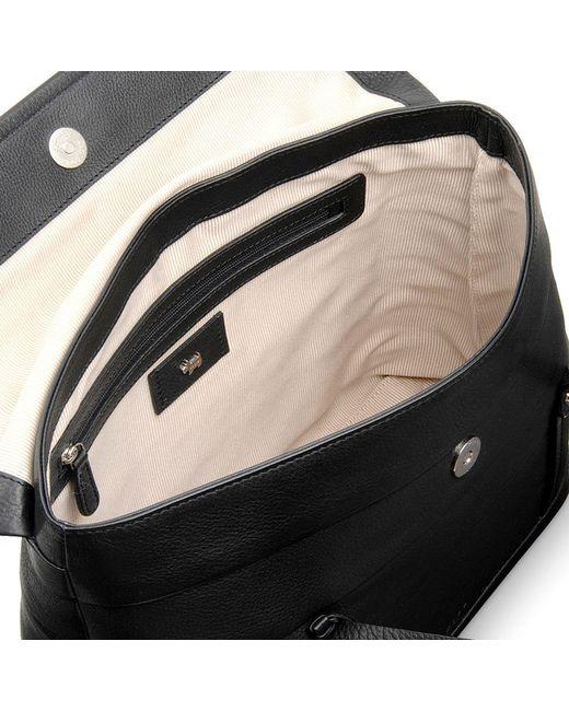 ce958e68eed4 ... Radley - Black Medium Babington Flapover Leather Shoulder Bag - Lyst ...