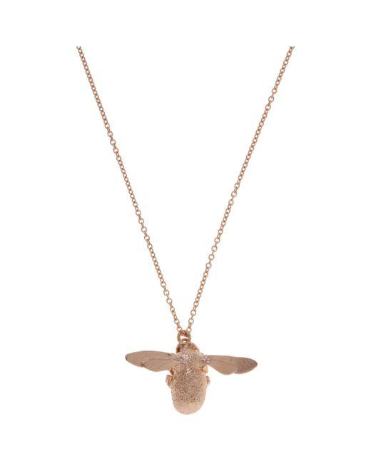 Alex Monroe - Pink 22ct Rose Gold Vermeil Bee Pendant Necklace - Lyst