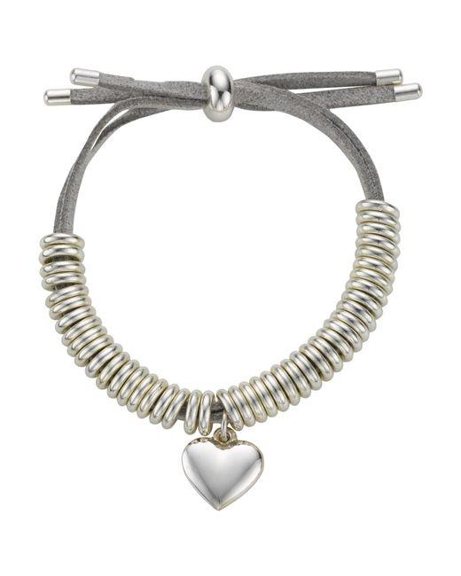 John Lewis | Metallic Heart Charm Bangle | Lyst
