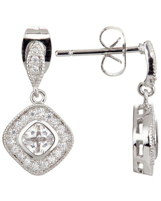 Ivory & Co. - Metallic Regent Square Cubic Zirconia Pave Drop Earrings - Lyst