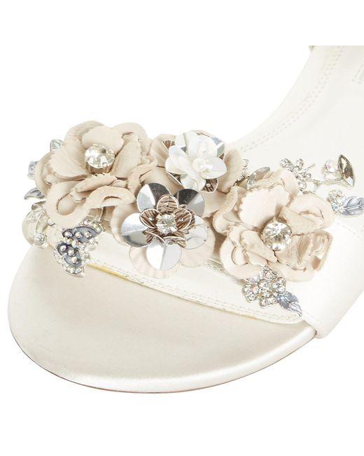 ae71efcb3 ... Dune - White Bridal Collection Nightingale Sandals - Lyst ...